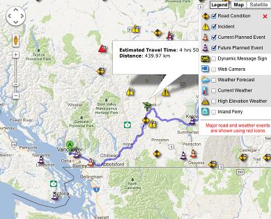 Drive Bc Map